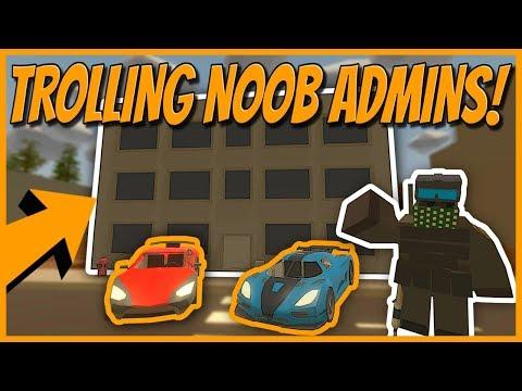 TROLLING SALTY NOOB ADMIN ABUSERS! - Unturned Trolling
