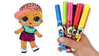 How to Draw LOL Boy Doll Scribbles | Drawing and Coloring for Kids LOL Surprise Dolls