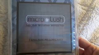 Micro Lush King size pillowcases Bed Bath Beyond Review