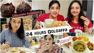 We Only ate GOLGAPPA for 24 hours Challenge | Life Shots