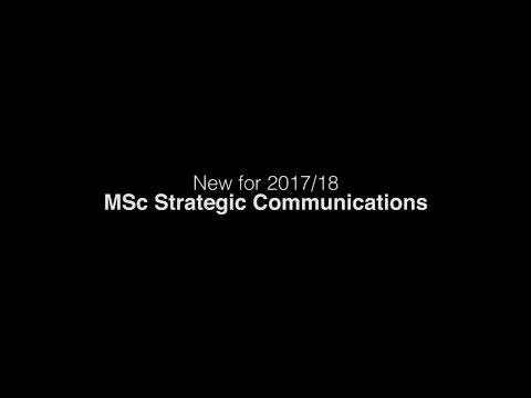 Dr Lee Edwards On The New MSc Strategic Communications