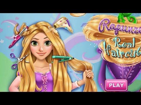 Рапунцель причёски игры