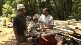 Pallet Bookshelf And Neighbor Jim's Powertool Quiz Episode 1