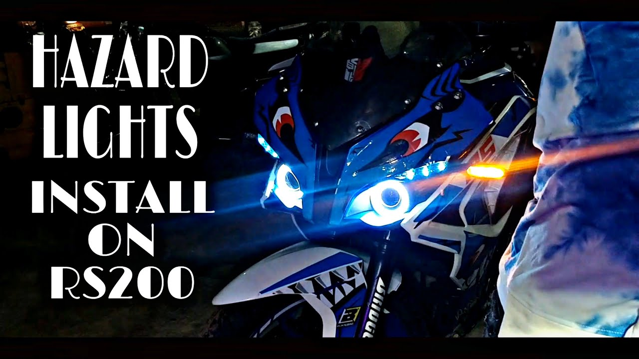 #Pulsar RS 200 Hazard Light Installation    KTM BOY 93