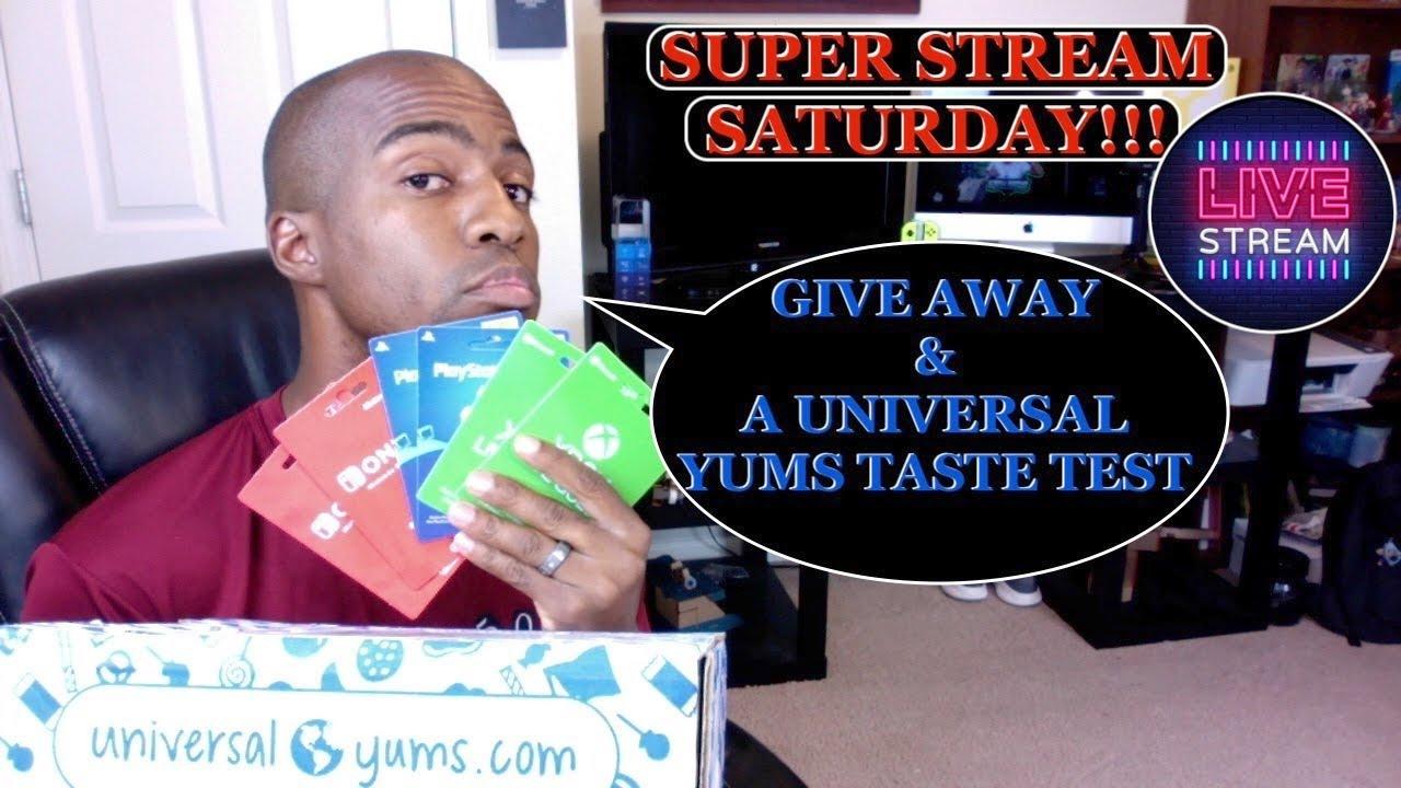 [SUPER STREAM SATURDAY] GIVE AWAY & UNIVERSAL YUMS TASTE TEST