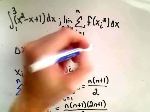 ❖ Calculating a Definite Integral Using Riemann Sums - Part