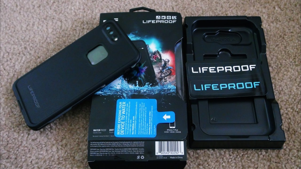 LifeProof - Frē Protective Waterproof Case for Apple® iPhone® 7 Plus -  Asphalt black f6e69fda9513