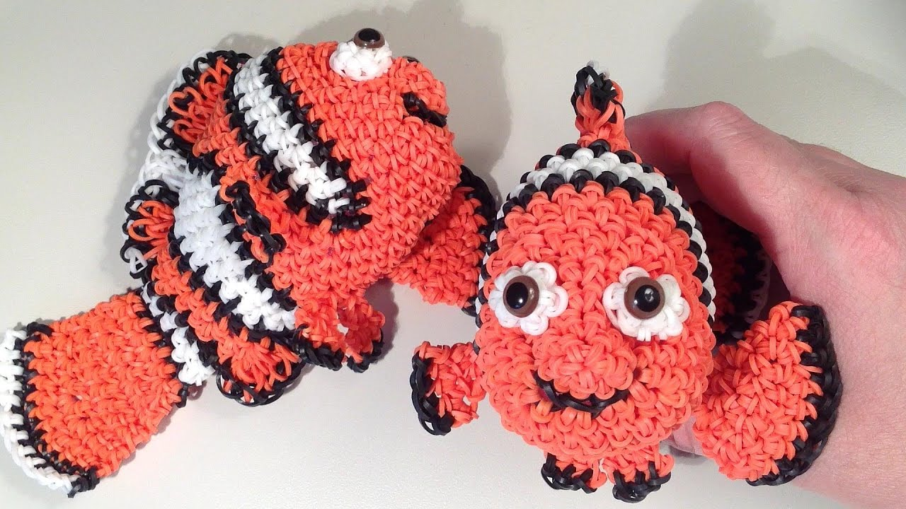Amigurumi Sailor Octopus Pattern Free : Nemo Part 1 Loomigurumi Amigurumi Rainbow Loom Band ...