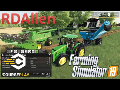 Courseplay Harvesting And Grain Carting | Courseplay | Farming Simulator 19