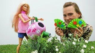 Поделки с Барби: украшаем лужайку Барби бумажными цветами