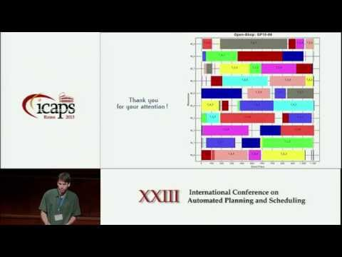 ICAPS 2013: Arnaud Malapert - An Optimal Constraint Programming Approach to the Open Shop Problem