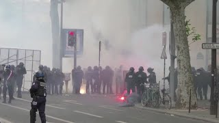 Anti-racism protesters clash with police in France
