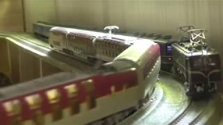 前掲の登坂能力の動画で24系富士14両編成を使いましたので、その走行を...