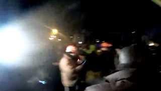 Евромайдан, катапульта с салом