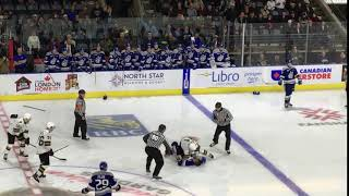 London Knights William Lochead wins the fight