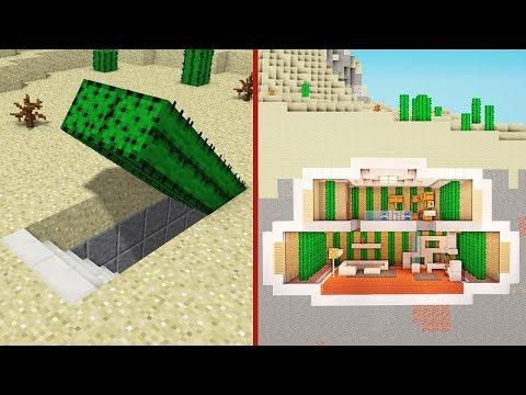 Minecraft: How to Build A Modern Secret Base Tutorial #4 - (Hidden House)