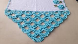 Aprenda a Fazer bico de Crochê em Panos de Prato.