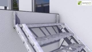 Vidéo: Escalier extérieur Hollywood + rampe d'un côté
