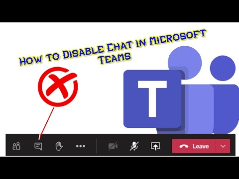 How To Disable Chat For Students In Microsoft Teams