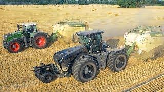 FENDT 1050 & CLAAS XERION 4000 | Lohnunternehmen Agrarlohn Müritz | Stroh pressen | Krone BigPack