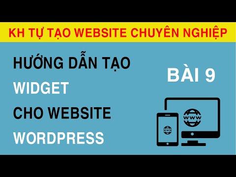 [Bài 9] Hướng Dẫn Tạo Widget Trong Website WordPress