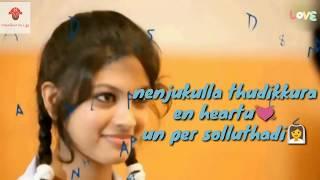Kannukula Nikira En Kadhaliye Lyrics with video Tamil  Album song