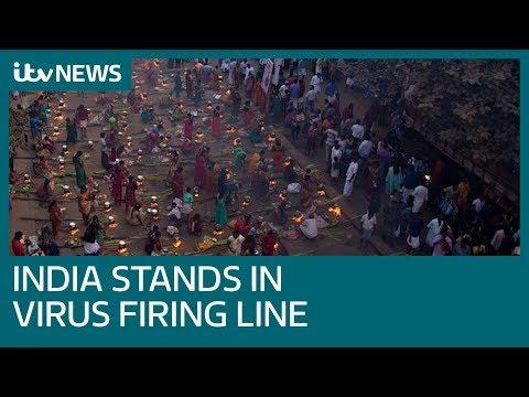 India's largest slum records first coronavirus case as country battles virus | ITV News