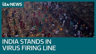 India's largest slum records first coronavirus case as country battles virus | ITV News
