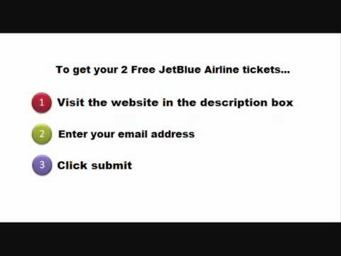 2 free jetblue airline tickets youtube. Black Bedroom Furniture Sets. Home Design Ideas