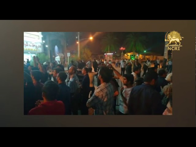BORAZJAN, southern Iran. July 8, 2nd day of demonstrations & protests over severe water shortages