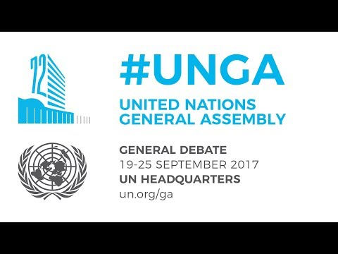 #UNGA General Debate - 20 September 2017