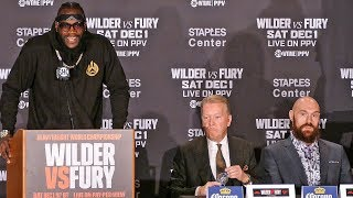 CHAOS!! Deontay Wilder vs. Tyson Fury FULL FINAL PRESS CONFERENCE | Los Angeles