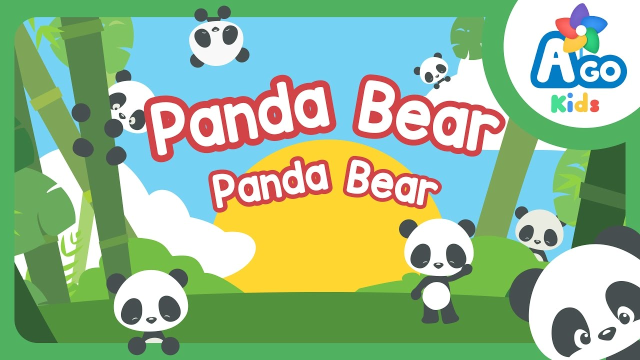 Panda Bear Panda Bear Action Verb Bedtime Song Bingobongo Learning Youtube