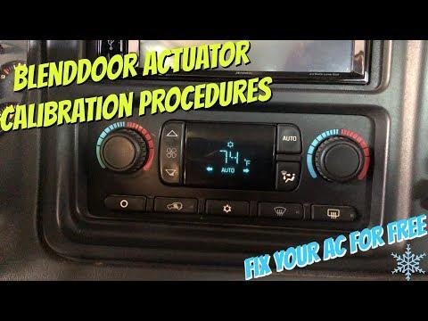 HVAC Automatic Blend Motor Actuator Recalibration Procedure For GM Trucks & SUVS FOR FREE