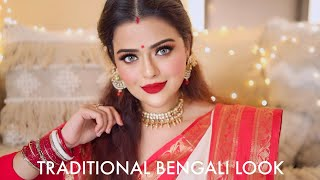 INDIAN TRADITIONAL MAKEUP TUTORIAL | DEVDAS INSPIRED BENGALI LOOK