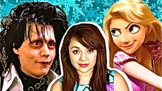 EDWARD SCISSORHANDS ATTACKS RAPUNZEL! (Kat