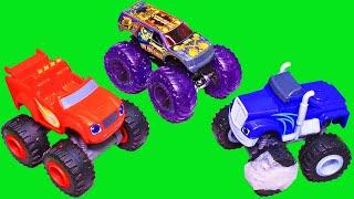 Вспыш и чудо машинки и монстр трак Hot Wheels Мультики про машинки – игрушки для детей – новое видео