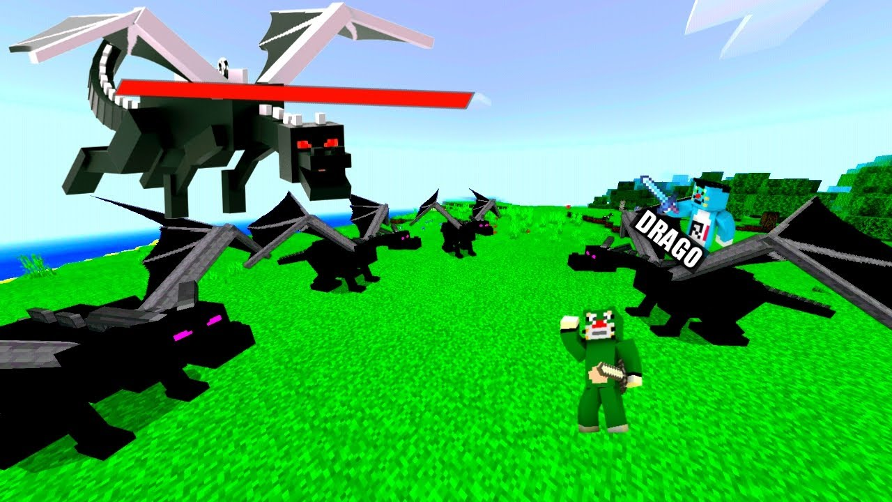 Minecraft | Snached Third Power Of Super Atlas From Ender Dragon | With Oggy And Jack |