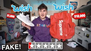 I Bought The LOWEST Rated Sneakers & Hype Items From Wish..com