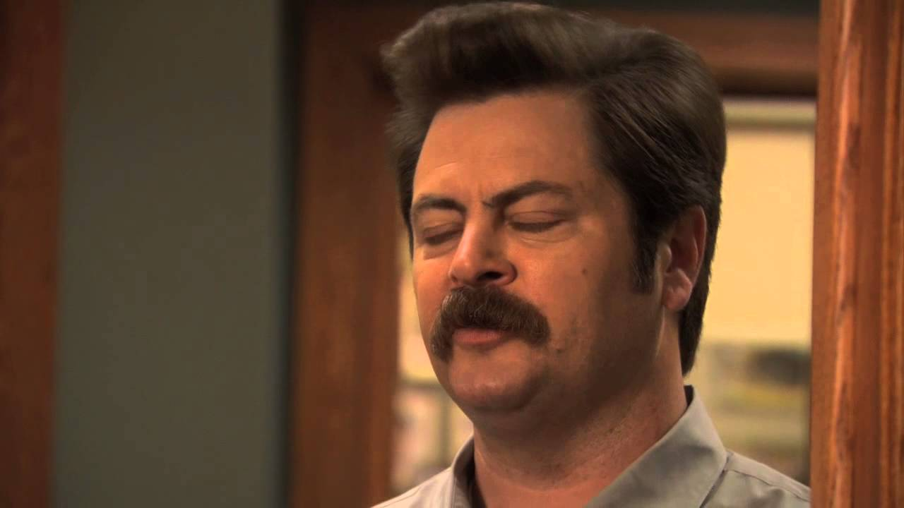 Ron Swanson If You Dont Believe In Love Whats The Point Of
