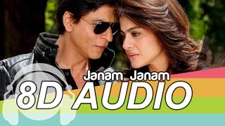 Janam Janam 8D Audio Song 🎧 - Dilwale | Shah Rukh Khan | Kajol | Arijit Singh | Bass Boosted