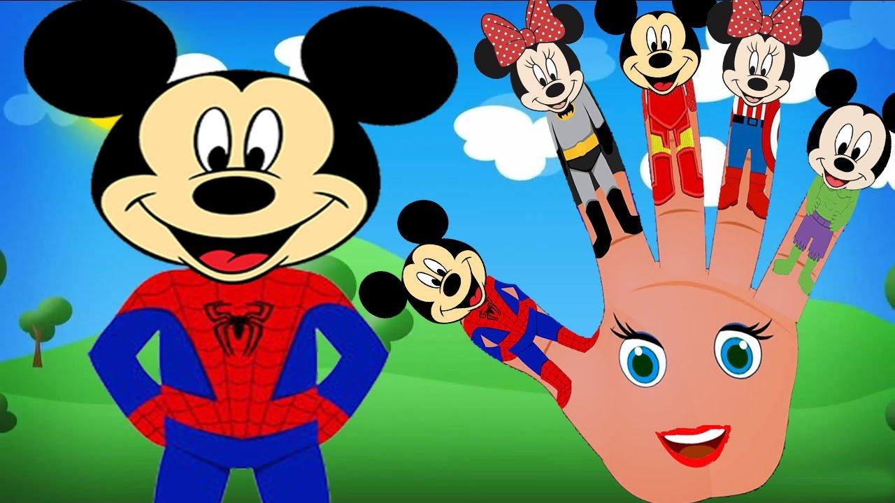 mickey mouse transform into superhero batman spiderman