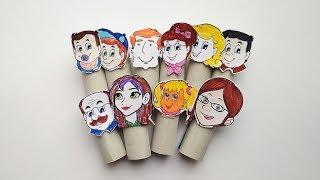 как сделать пальчиковые куклы своими руками. Игрушки из картона и бумаги для детей