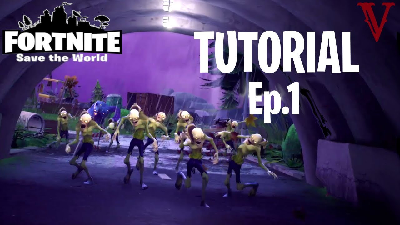 fortnite save the world tutorial gameplay walkthrough ep 1 - fortnite part 1 zackscottgames