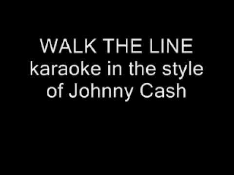 walk the line karaoke in the style of johnny cash no lyrics youtube. Black Bedroom Furniture Sets. Home Design Ideas