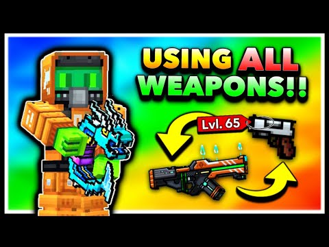 Using EVERY GUN MAX LEVEL In Pixel Gun 3D! Max Account Challenge! (Special)