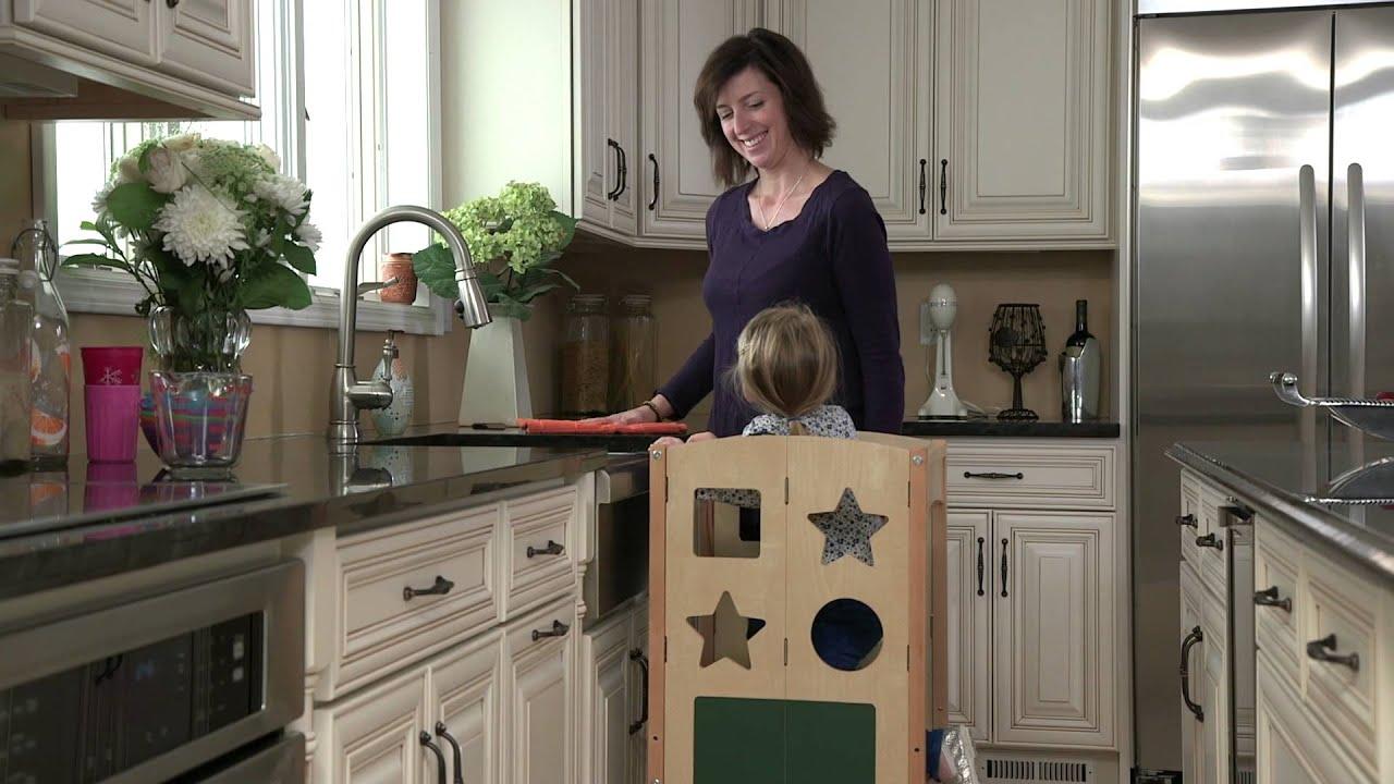 guidecraft kitchen helper - youtube