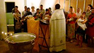 Крещение детей в Солнцево (моя дочка)(На видео подготовка к крещению в храме в Солнцево (храм Преподобного Сергея Радонежского) 24 июля 2011 года., 2011-07-25T11:54:58.000Z)