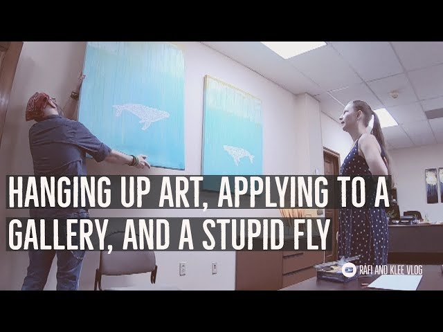 Hanging Up Art, Applying To A Gallery, Tuxedo Fittings, And A Stupid Fly