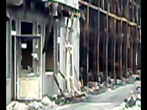 Последствия пожара на рынке Виноградарь